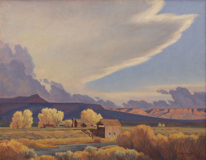 """Edith Hamlin, Homestead on the Sevier, Oil on Canvas, c. 1948, 25"""" x 30"""""""