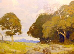 """Carl Oscar Borg, A Sacred Grove, Oil on Canvas, c. 1920, 39"""" x 52"""""""