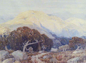 "Carl Oscar Borg, Landscape, Watercolor, 14"" x 18"""