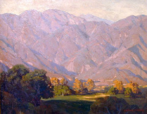 "Edgar Payne, Morning Light, San Gabriel, Oil on Canvas, 33"" x 41"""