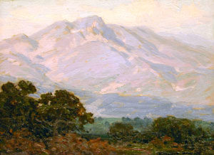 "Edgar Payne, Summer Sierras, Oil on Canvas, Circa 1920, 12"" x 16"""