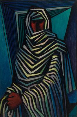 Emil Bisttram, The Chief, Oil on Canvas, 27 x 40