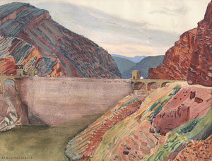 "Ernest Blumenschein, Apache Trail Arizona, Watercolor on Paper, Circa 1920, 10"" x 12"""