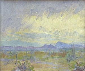 "Jessie Benton Steese Evans, The Coming Storm, circa 1922, Oil on Canvas, 13"" x 15"""