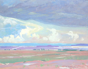 "Mary Russell-Ferrell Colton, Painted Desert, Oil on Canvas, c. 1920, 16"" x 20"""