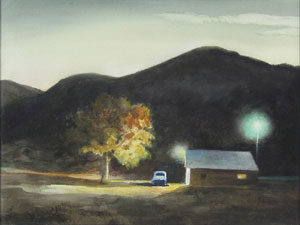 """Peter Hurd, Dusk Near Hondo, Watercolor, 10.5"""" x 14.5"""""""