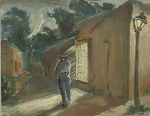 "Robert M. Gage, Taos New Mexico, Circa 1930, Gouache on Paper, 11"" x 14"""