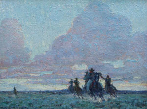 """William Herbert Dunton, The End of the Day, Circa 1915, Oil on Canvas Board, 12"""" x 16"""""""